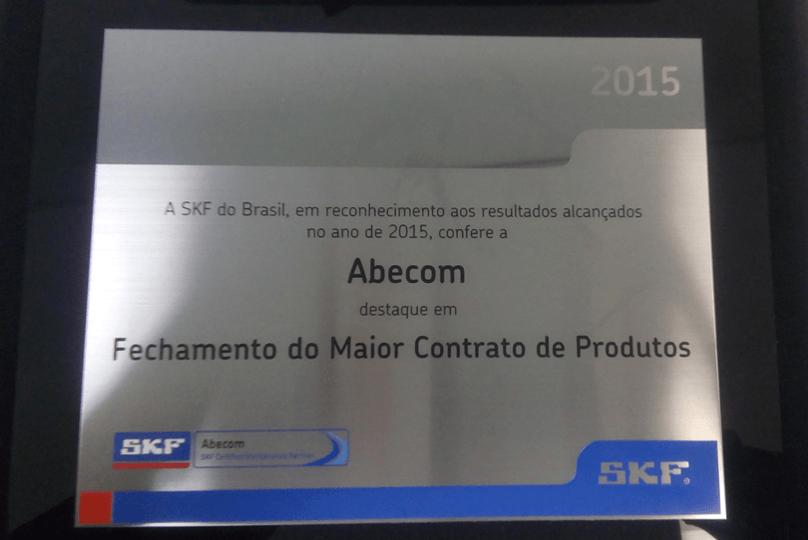 """A Abecom mais uma vez foi eleita como """"O maior distribuidor SKF do Brasil e de contratos"""""""