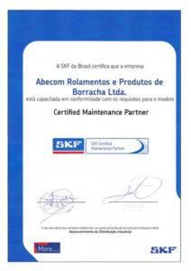 certificado de distribuidor autorizado skf cmp