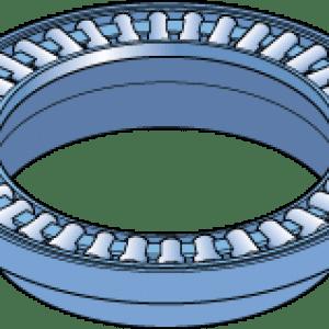 rolamento axial de agulha com flange centralizador