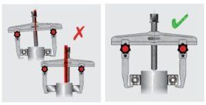 dica 2 como posicionar o extrator de polia