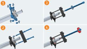 extração de rolamento utilizando separadores