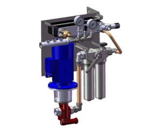 Sistema de lubrificação forçada com bomba de óleo