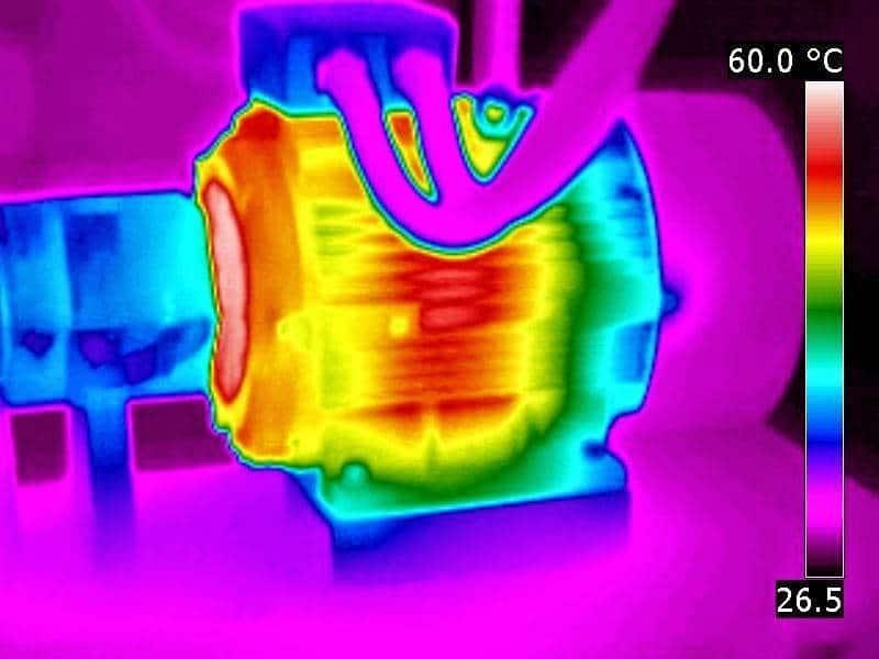 manutenção preditiva - Imagem de termografia de motor elétrico