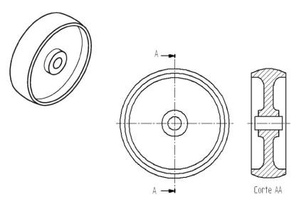 desenho de uma polia