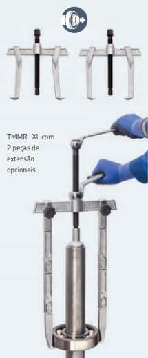 saca polia 2 garras reversíveis SKF série TMMR F