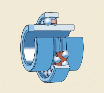 Rolamentos autocompensadores de esferas com um anel interno prolongado
