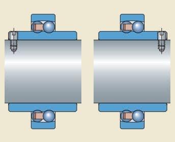fixação do rolamento autocompensador com anel interno prolongado