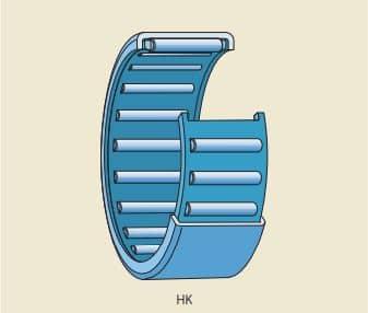rolamento de agulha com capa estampada e extremidades abertas