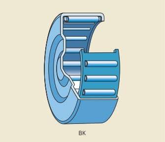 rolamento de agulha com capa estampada e com uma extremidade fechada