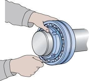 calibrar folga na montagem do rolamento