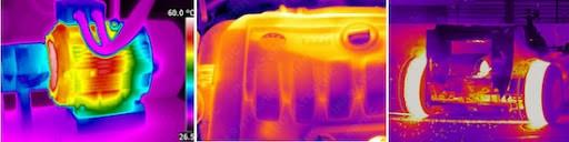 análise termográfica em motores